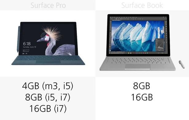 Surface Pro(2017)和Surface Book同门规格参数对比的照片 - 14