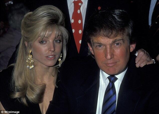 1991年,特朗普与玛拉·梅普尔斯