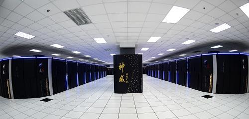 """原料图:这是安置在国家超级计算无锡中心的""""神威太湖之光""""超级计算机。新华社记者 李响 摄"""