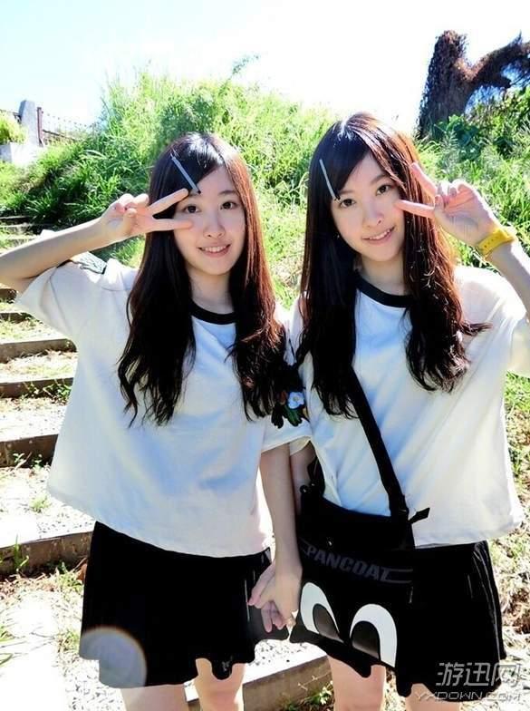 台湾最美双胞胎视频_台湾最美双胞胎 小时候天真可爱,长大了女神范!_新浪游戏 ...