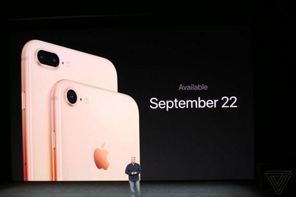 外形不变支持无线充电 苹果发布iPhone 8\/8 Pl