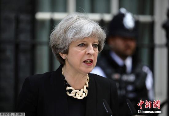 原料图:英国首相特雷莎⋅梅。
