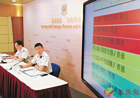 香港消防处19日召开记者会澄清谣言(文汇报)