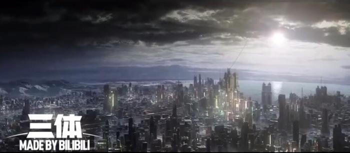《三体》动画首支正式预告片截图。