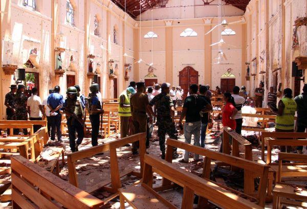 斯里兰卡爆炸现场(图片源自网络)