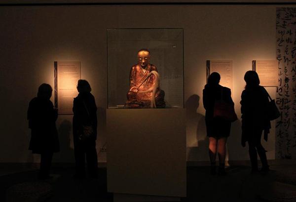 2005年展出在匈牙利博物馆的章公祖师像 中新网 资料图