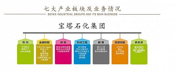 宝塔石化七大产业板块。制图:韩沁珂