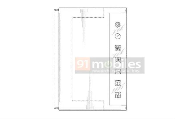 三星新的折叠屏专利图(图片来源91mobile)
