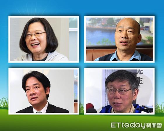 """最新民调显示,2020年台湾地区领导人选举是蓝绿白三组对战的话,高雄市长韩国瑜仍是最强的人选。(图片来源:台湾""""东森新闻云"""")"""