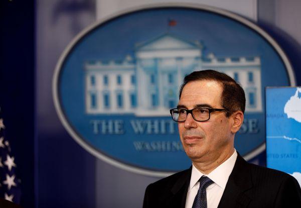 资料图片:美国财政部长姆努钦。(新华社)