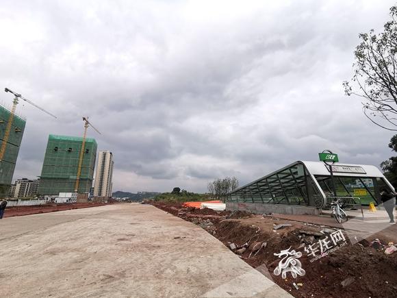 地铁6号线曹家湾站出入主干道明年五月完工