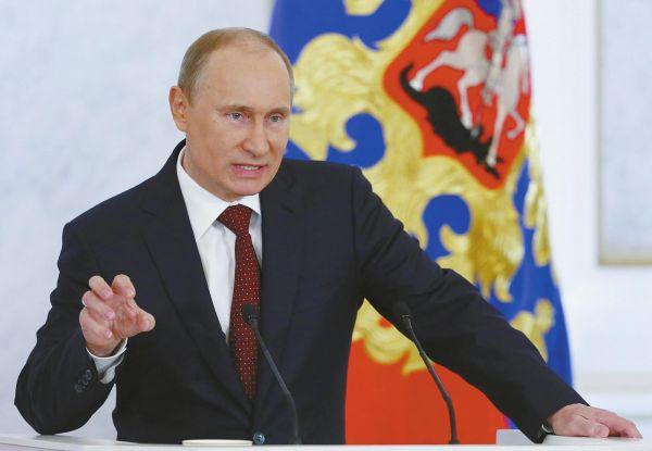 资料图片:俄罗斯总统普京。(图片来源于网络)