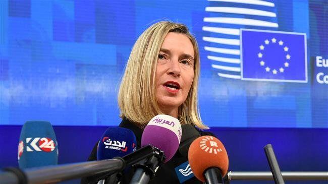 图说:欧盟外交与安全政策高级代表莫盖里尼