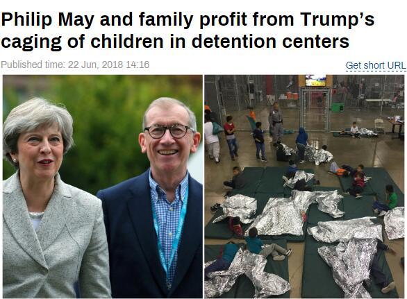 """特朗普建""""骨肉分离""""拘留所 英首相丈夫牵涉其中"""