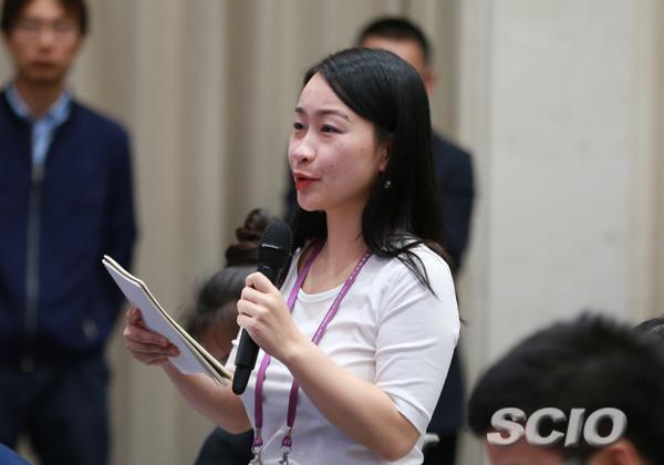 第一财经记者郭丽琴提问
