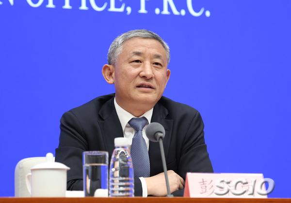 国务院国有资产监督管理委员会秘书长、新闻发言人彭华岗(张馨 摄)