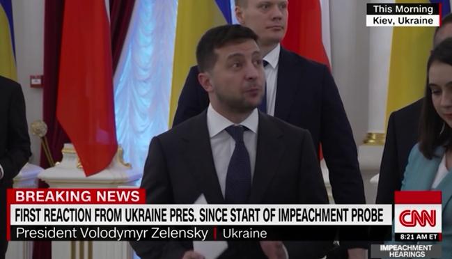 乌克兰总统泽连斯基批准CNN记者挑问