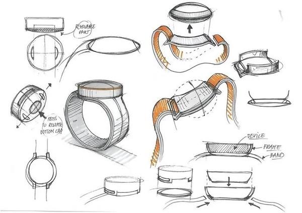 一加手表的设计手稿曝光 采用圆形表盘+可能搭载自动吸附表带