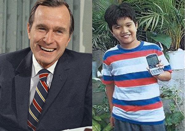 老布什和蒂莫西