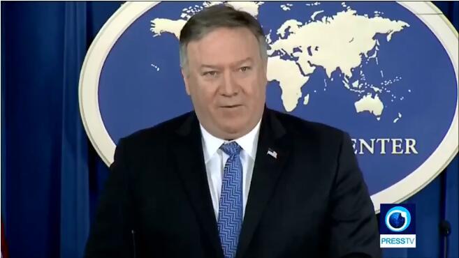 伊朗方面指名道姓斥责蓬佩奥。(图截自Press TV)