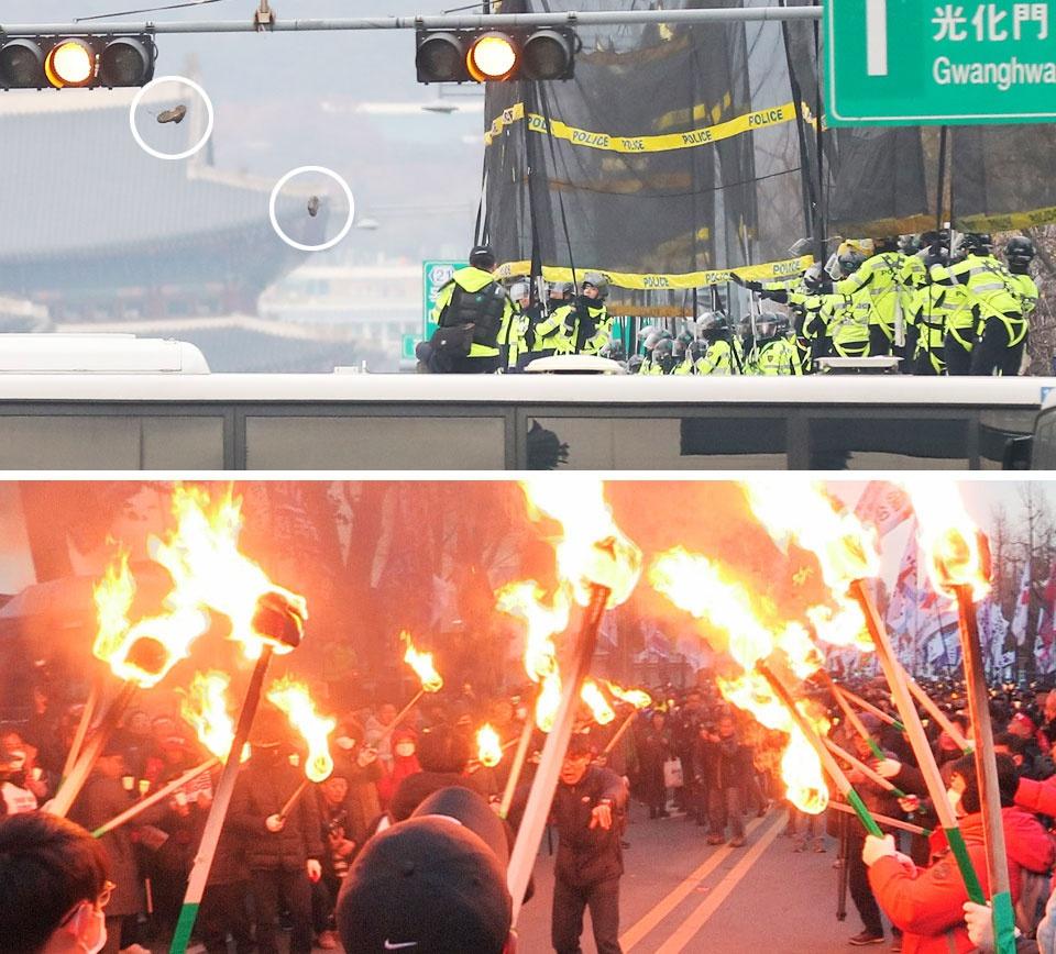 韩国抗议者。(图源:朝鲜日报)
