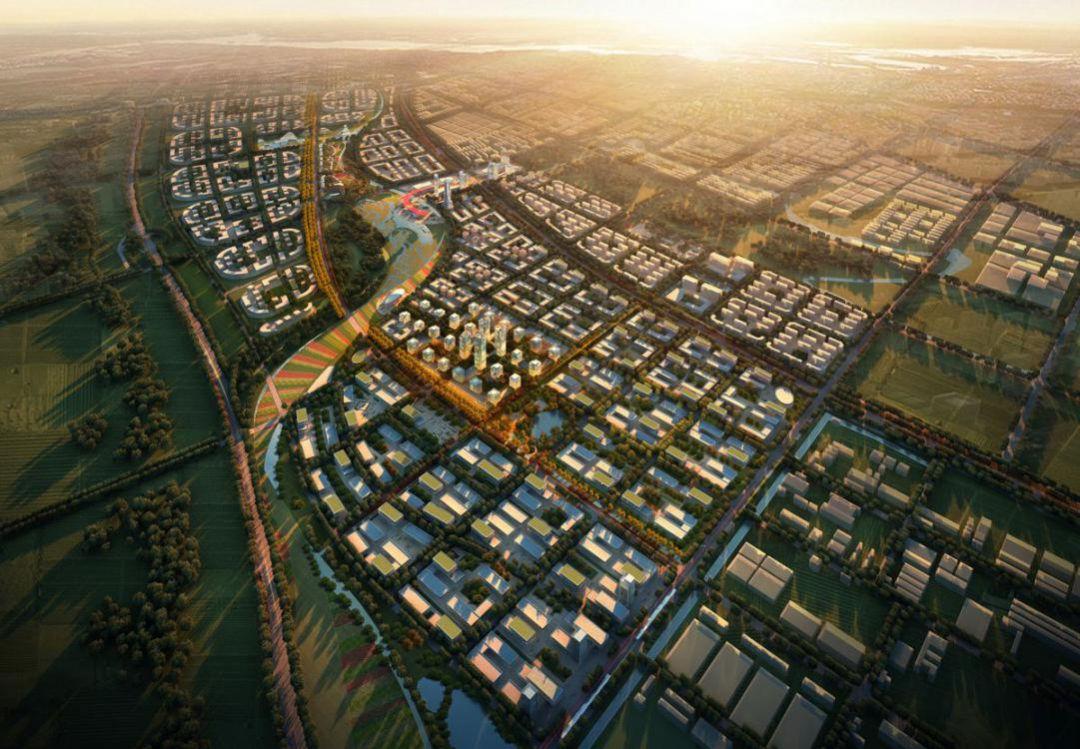 京津中关村科技城规划图。