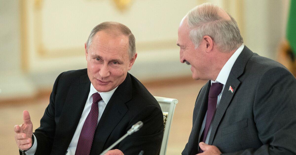图说:普京与卢卡申科