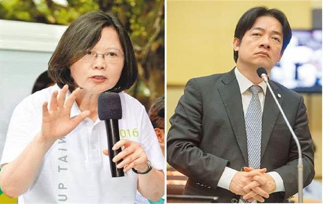 蔡英文(左)赖清德(右)(图片取自台媒)