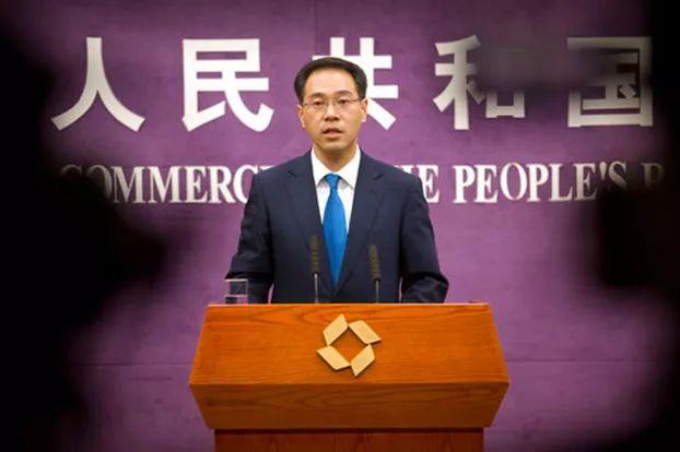 ▲3月29日,中国商务部发言人高峰在记者会上谈中美贸易纠纷。