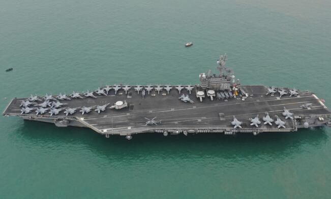 美回收利用退役航母零部件 华盛顿号用上企业号旧锚