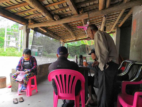 新岭冲村的幼卖部,往往有人来这边喝茶、座谈、打麻将。澎湃消息记者 明鹊 图