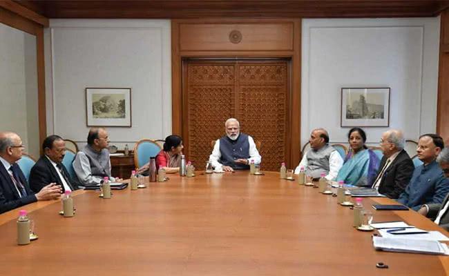 26日空袭之后,下午,莫迪在印度高级安全会议上。