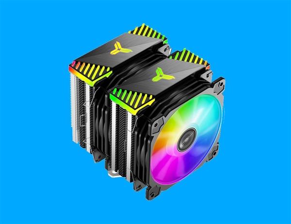 喬思伯推出全新雙疊層CPU風冷散熱器:雙風扇加持