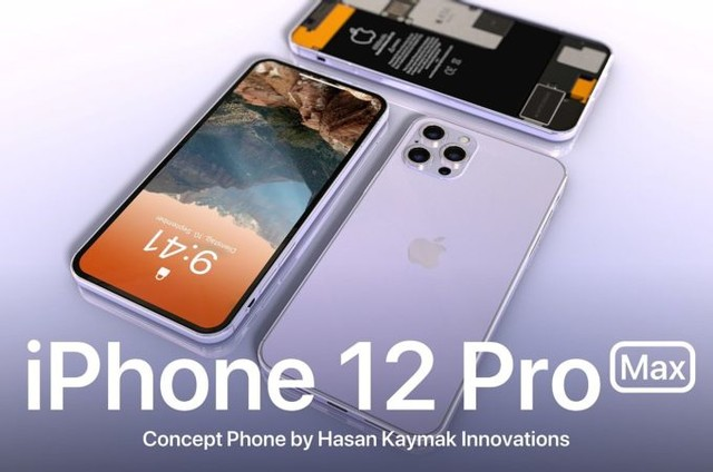 苹果iPhone12 Pro Max渲染图曝光 搭载后置三摄+6000mAH电池