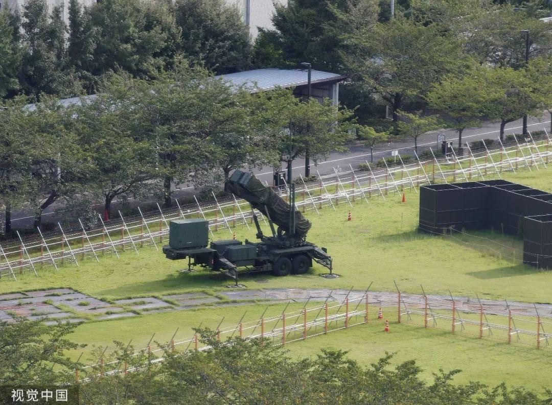 """▲日本部署的""""爱国者""""-3型导弹"""