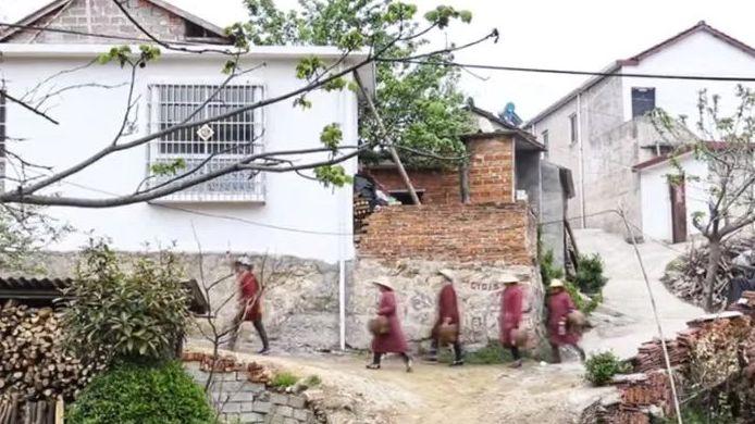 車云山茶工們前往茶山采茶。新京報記者王瑞文攝