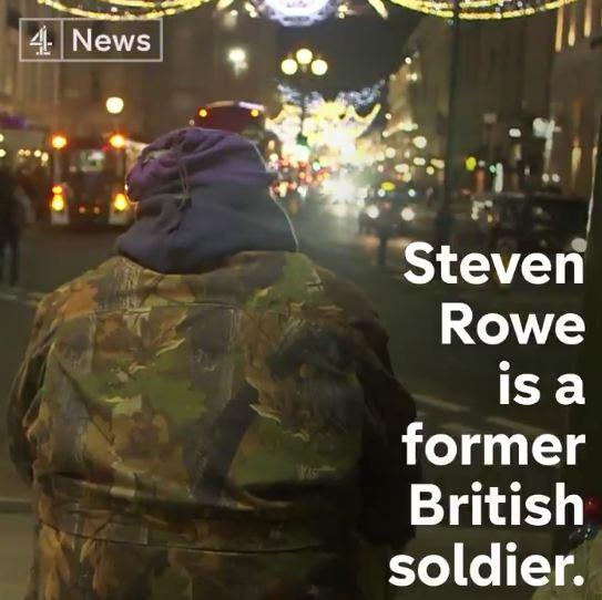 罗威在伦敦的圣诞街头