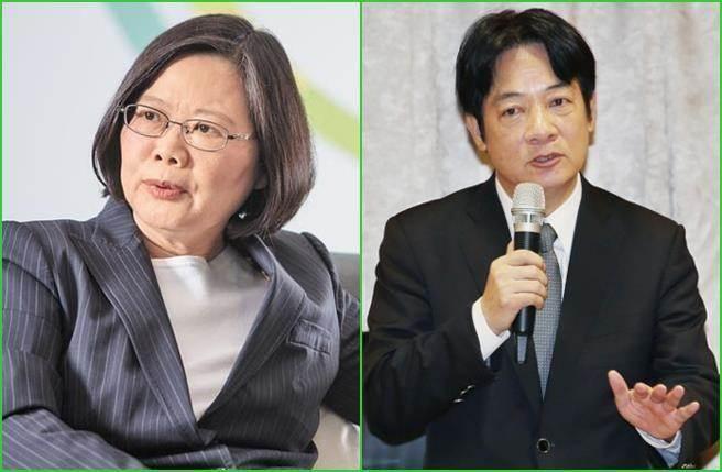"""""""独派""""呛蔡英文(左图)2020不要再出来,并点名赖清德(右图)出战。(图片来源:台湾""""中时电子报"""")"""