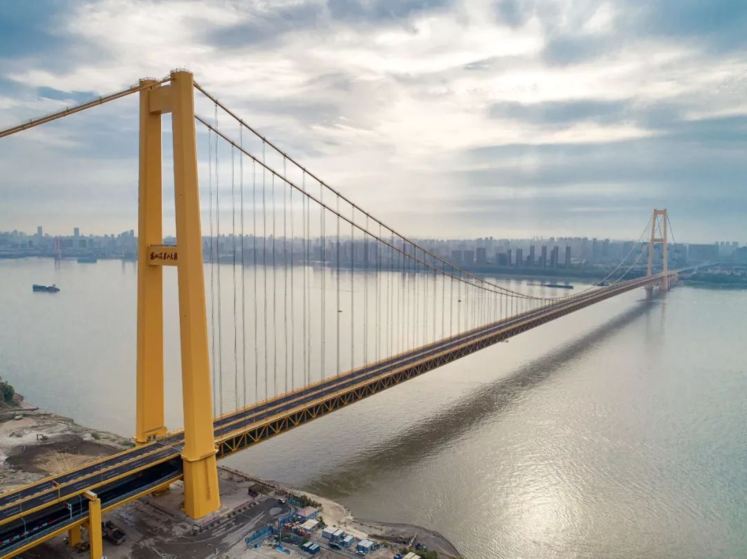 ▲资料图片:武汉杨泗港长江大桥(新华社)