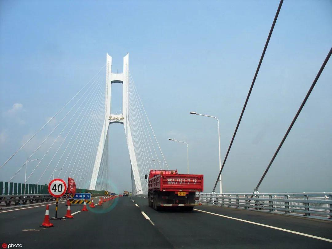 ▲资料图片:武汉军山长江大桥(东方IC)