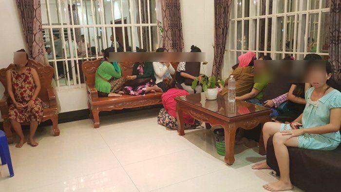 6月,柬埔寨警方突袭一家作凶代孕企业,发现33名女性挑供有偿代孕 图自:柬埔寨媒体FreshNews