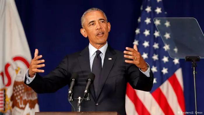 ▲奥巴马近日在演讲中公开批评特朗普。(路透社)