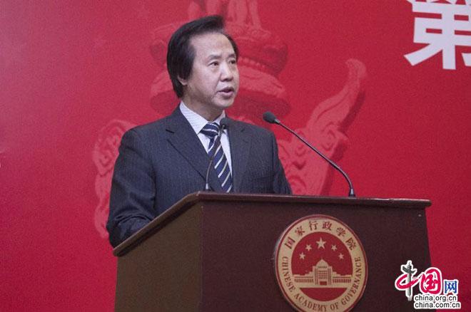 中心编办原副主任王峰作主旨演讲。