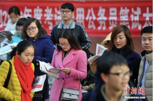 原料图:考试前争分夺秒复习的考生们。中新社记者 韦亮 摄