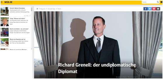 (德国WEB.DE新闻网:格雷内尔,没有外交手腕的外交官)