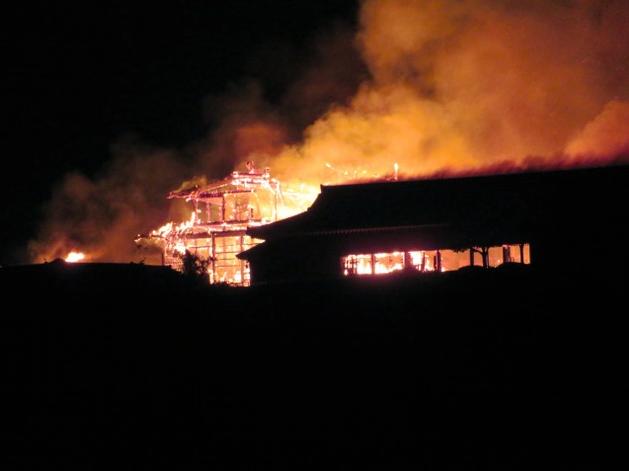 日本冲绳首里城大火已扑灭 起火原因尚不明