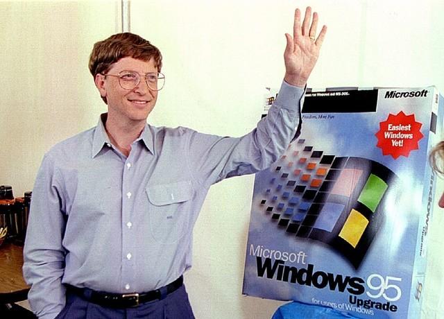 盖茨发布Win95的时候 中国只有幼批家庭有电脑