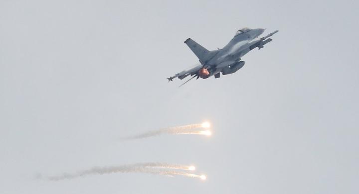 资料图:F-16战机(韩联社)