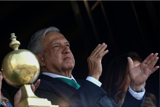 墨西哥总统奥夫拉多尔。(图源:路透社)