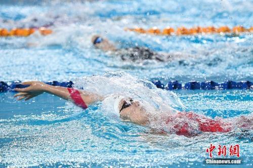 4月13日,2018年全国游泳冠军赛暨亚运会选拔赛在山西太原开幕,包括孙杨、徐嘉余、傅园慧等泳坛名将悉数参赛,竞争亚运会参赛席位。 武俊杰 摄